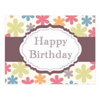 Happy Birthday (flowers) Postcard