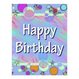 happy birthday flyer template .