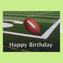Happy Birthday Football Fanatic Card