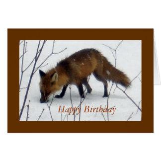 Happy Birthday For All Framed-Fox Card