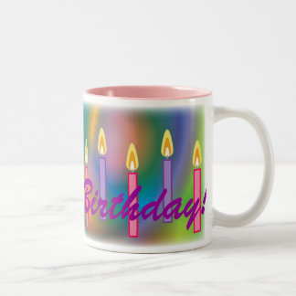 Happy Birthday !For Her-Customize Two-Tone Coffee Mug