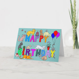 Happy Birthday for the Cat Lover Greeting Card