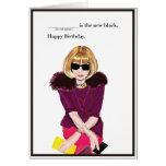 Happy Birthday for the Fashionista Greeting Card