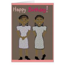Happy birthday for twins Card