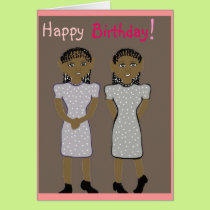 Happy birthday for twins Card