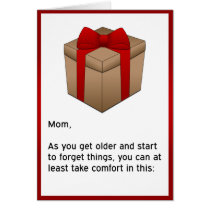 Happy Birthday - Forgetful Mom Card