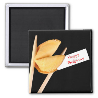 Happy Birthday Fortune Cookie 2 Inch Square Magnet