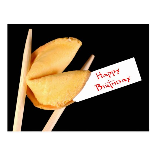 Happy Birthday Fortune Cookie Postcard