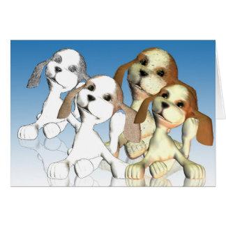 Happy Birthday, four views one dog Card