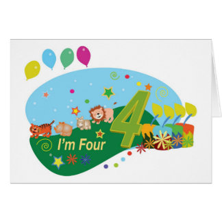 Happy Birthday (Four Years) Card