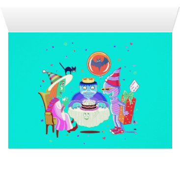 Halloween Themed Happy Birthday Frankie Birthday card