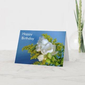 Happy Birthday - Freesia Card