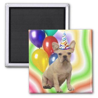 Happy Birthday French Bulldog magnet