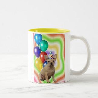 Happy Birthday French Bulldog mug