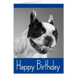 Happy Birthday French Bulldog Puppy Card - Verse