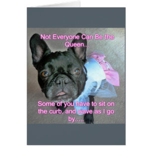 French bulldog cards greeting photo cards zazzle happy birthday french bulldog queen card stopboris Gallery