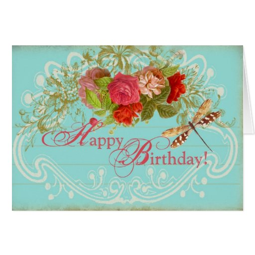 Happy Birthday , French Inspired Greeting Card