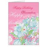 Happy Birthday Fresh Flowers Greeting Cards