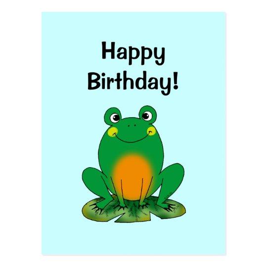 Happy Birthday! (frog) Postcard