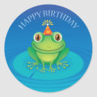 Happy Birthday Frog Sticker