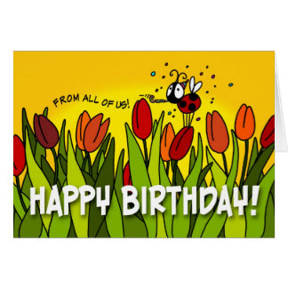 Happy Birthday - From All of Us Card
