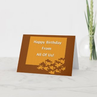 Happy Birthday From All Of Us! Card