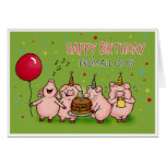 Happy Birthday from all of us -Funny Birthday card