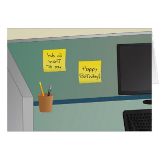 Happy Birthday, From All of Us! Office Cubicle Card