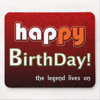 Happy Birthday From All Of Us Red Mousepad