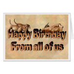 Happy Birthday from all the Dachshunds Greeting Card