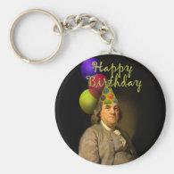 Happy Birthday  From Ben Franklin Basic Round Button Keychain