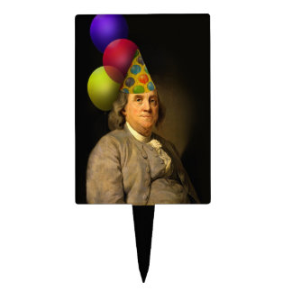 Happy Birthday  From Ben Franklin Cake Topper