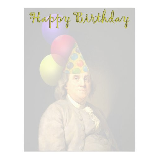 Happy Birthday from Ben Franklin Full Color Flyer
