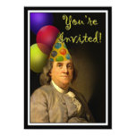 Happy Birthday  From Ben Franklin 5x7 Paper Invitation Card