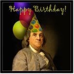Happy Birthday from Ben Franklin Photo Cutout
