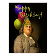 Happy Birthday  From Ben Franklin Postcard