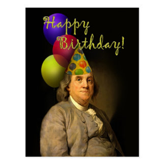 Happy Birthday  From Ben Franklin Postcard