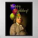 Happy Birthday from Ben Franklin Poster
