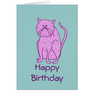 Happy Birthday from Cat Greeting Card