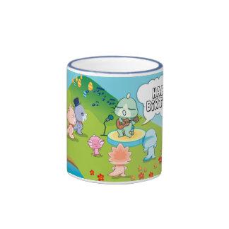 happy birthday from cute dinosaur island (mug)