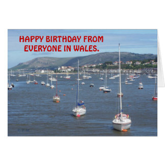 HAPPY BIRTHDAY FROM EVERYONE IN WALES. CARD