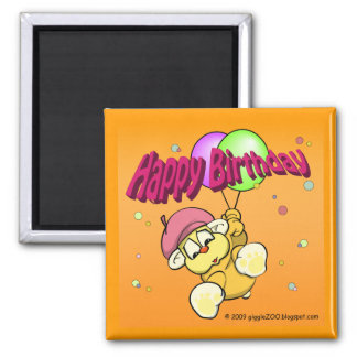 Happy Birthday from giggleCubby 2 Inch Square Magnet