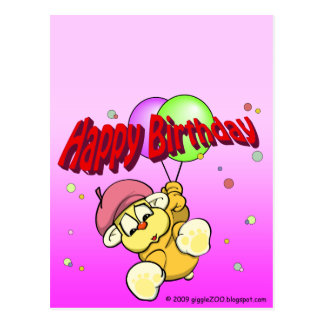 Happy Birthday from giggleCubby Postcard