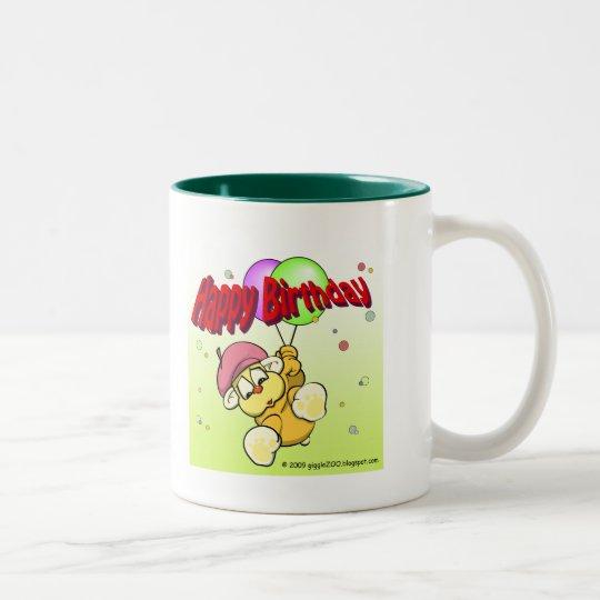Happy Birthday from giggleCubby Two-Tone Coffee Mug