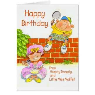 Happy Birthday from Humpty and Little Miss Muffet Card