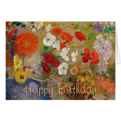 Happy Birthday from Josephine CC0602 Flower Card