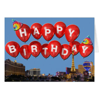HAPPY BIRTHDAY from Las Vegas Card