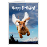 Happy Birthday from Michael the Bark Angel, Greeting Card
