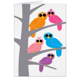 Happy Birthday from Owl of Us for Co-worker Card