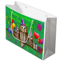 Happy Birthday from Owl of us! Large Gift Bag